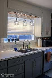 pendant light over sink likeable herrlich pendant light above kitchen sink terrific