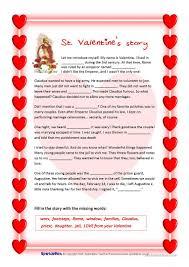 st valentine u0027s story and valentine u0027s quiz worksheet free esl