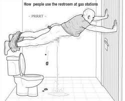 Public Bathroom Meme - how people use the restroom at gas stations imgur