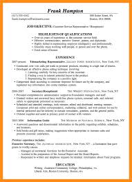 Resume Examples For Customer Service Representative by Resume Objective Examples Administrative Assistant Position Free