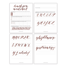free basic brush pen calligraphy worksheet the postman u0027s knock