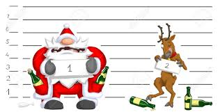 santa claus and reindeer drunk police lineup christmas party
