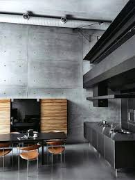 Black Brick Kitchen Tiles Exposed Pipe Range Hood Industrial Masculine Kitchen Design Chrome