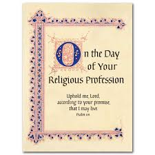 vow renewal cards congratulations on your profession of religious vows religious profession card