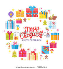 congratulation poster merry christmas happy winter days congratulation stock vector