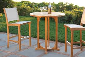 High Top Patio Furniture Set by Furniture Awesome Slatted Teak Bar Table Design With Stool Chairs