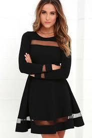 black dress sleeve lbd black dress mesh dress skater dress 58 00