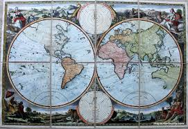 World Map Prints by Antique Maps And Charts U2013 Original Vintage Rare Historical
