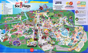 New England Map by Six Flags New England 2016 Park Map