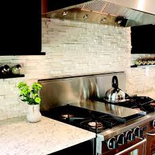 Rock Backsplash Kitchen by Backsplashes Glass Tile And Stone Stone Backsplash White