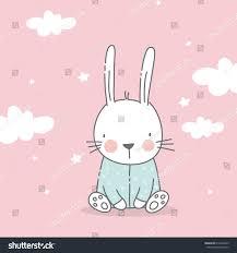 sweet dreams print cute bunny can stock vector 619406333