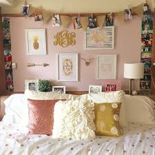 Pink And Gold Bedroom - chitwood hall dorm room at texas tech pink and gold mirror
