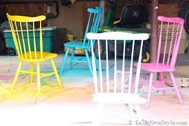 Paint For Outdoor Plastic Furniture by Furniture Makeover Spray Painting Wood Chairs In My Own Style