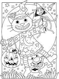 cat halloween coloring pages free halloween free