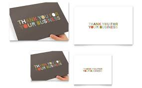 finished design business thank you card template result picture