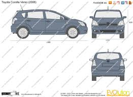 toyota co the blueprints com vector drawing toyota corolla verso