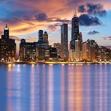 chicago lakefront computer printed backdrop backdrop city