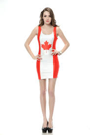 Flag Dress Buy Diyouth Comfortable Women Mini Canada Flag Printed Dress Diyfa