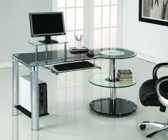 modern black computer desk sleek modern black glass chrome executive desk computerdesk com