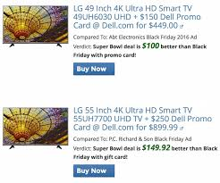 uhd tv black friday 10 best super bowl tv deals