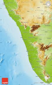 Physical Map Of India by Physical Map Of Kerala