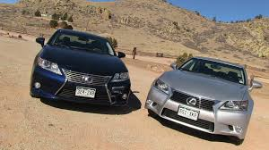 lexus sedan gs 2013 lexus es vs gs 0 60 mph mashup review what u0027s the best new