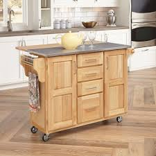White Kitchen Island With Stainless Steel Top Oak Wood Cherry Presidential Square Door Kitchen Island Stainless