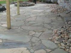 flagstone patio with flowering thyme gardens patios outdoor