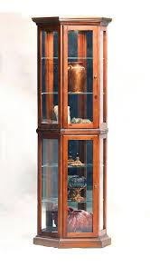curio cabinet corner curionets oak broyhillnet pulaski golden