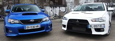 subaru evo the biggest rivalry of all sti vs evo furious customs