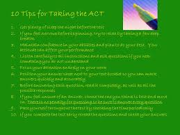 10 Tips For Taking Your by Act Prep Test Tips Ppt Download