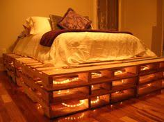 Pallet Bunk Bed Oh Yeah Easy I Can Make This Projects by Use Some Old Pallets And Add Christmas Lights To Make Your Own Bed