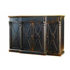 sanctuary 4 drawer console table hooker furniture sanctuary 4 door 3 drawer credenza in ebony and