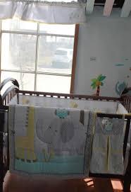 Elephant Nursery Bedding Sets by 100 Cotton Embroidery Owl Elephant Giraffe Baby Bedding Set Quilt