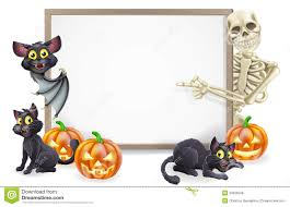 halloween sign with skeleton and bat royalty free stock photos