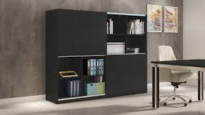jackson executive bookcase and wall unit with sliding doors