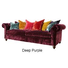 Purple Velvet Chesterfield Sofa by Duresta Connaught Grand Sofa In Fabric
