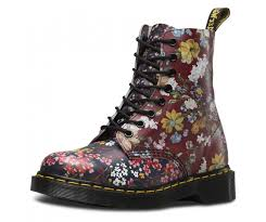 womens boots dr martens martens pascal 1460 multi floral leather 8 eyelets womens boots