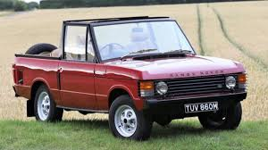 land rover convertible bid on this rare range rover convertible before the evoque gets
