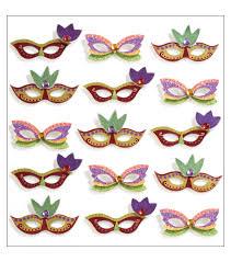 miniature mardi gras masks jolee s mini repeats stickers mardi gras masks joann