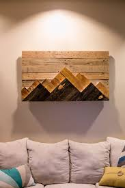 wood wall wooden mountain range made to order or