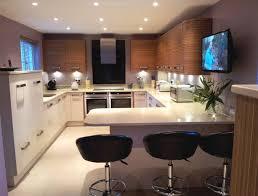 Kitchen Breakfast Bars Designs Kitchen U Shaped Kitchen Designs With Breakfast Bar Small Galley