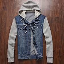 jean sweater jacket denim jacket hooded sportswear outdoors casual fashion