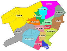 Damascus Syria Map Jobar Wikipedia