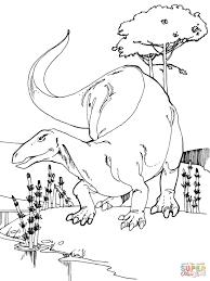 camptosaurus jurassic dinosaur coloring page free printable