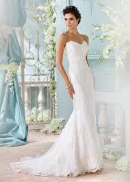strapless satin u0026 embroidered lace mermaid wedding dress j1820