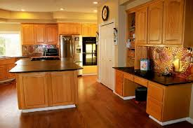 kitchen timeless kitchen with pine wood cabinet amenities and