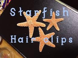 starfish hair clip diy starfish hair clip