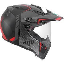 lazer motocross helmets agv ax 8 dual sport evo helmet black silver red solomotoparts com