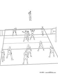 volleyball court coloring page more sports coloring pages on